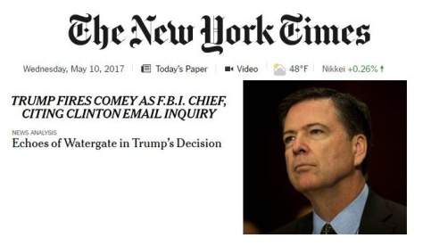 NY Times - Trump Fires Comey