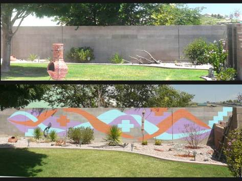 Outback Near North Wall - Before and After