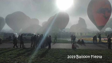 2019 Balloon Fiesta in the Fog