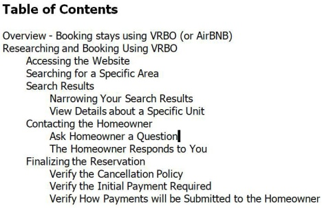 Booking Stays Using VRBO - TOC