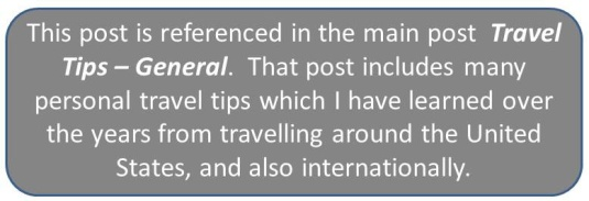 Travel Tips Reference Box