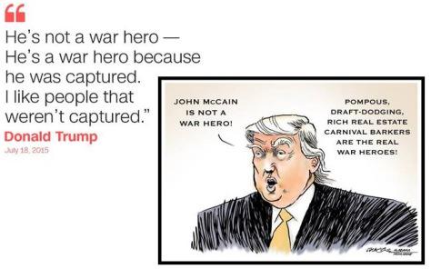 055 - Trump political genius - not a war hero