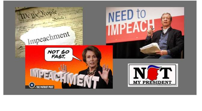 076 – DON'T BE AFRAID OF OPENING IMPEACHMENT HEARINGS – JUST DON'T DO IT FIRST THING (An Editorial)