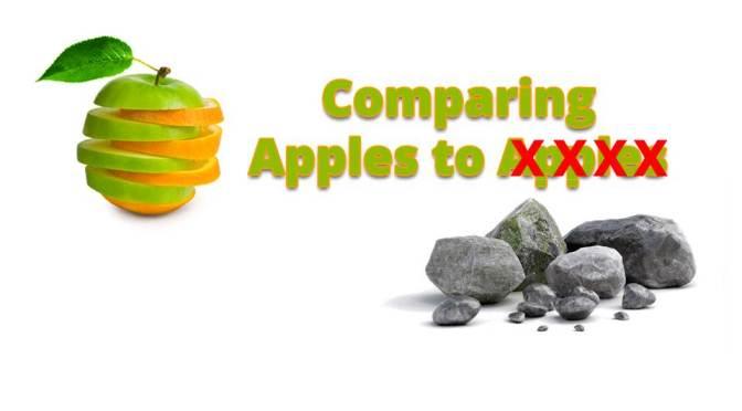 QUICK QUIPS:  Apples vs. Rocks