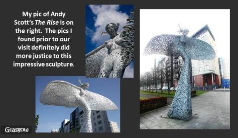 SCOTLAND 2019 - Our Three Week Driving Trip - Part 4 - Glasgow - Andy Scott The Rise