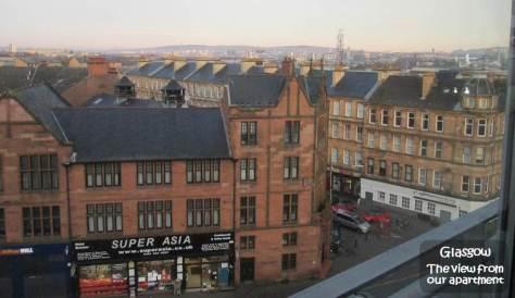 SCOTLAND 2019 - Our Three Week Driving Trip - Part 4 - Glasgow - Apt Living Room View
