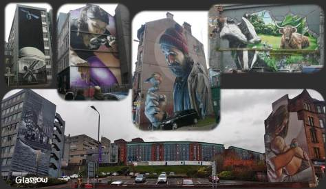 SCOTLAND 2019 - Our Three Week Driving Trip - Part 4 - Glasgow - Wall Mural Collage